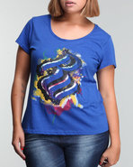 Women Glam Flam Graphiti Drip Graphic Tee (Plus) B