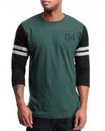 Men Malto 3/4 Sleeve Football Jersey Tee Green X-L