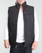 Men Reversible Filled Vest Grey Small