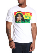 Men Jah Bless You Tee White X-Large