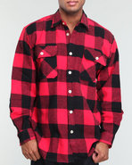 Men Extra Heavyweight Flannel Shirt Red Medium