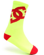 Dc Shoes Men Lifted Socks Yellow 10-13