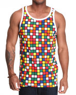 Men Cubiks Tank Multi X-Large