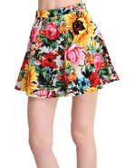 Women's Sunrise Blossom Pleated Skirt Multi Large