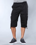 Men Cargo Board Shorts Black 40