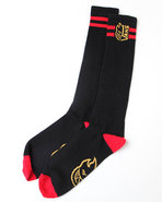 Men Vans X Spitfire Tall Boy Socks Black