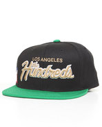 Men Team Two Snapback Cap Black