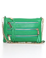Women's Mini 5 Zip Bag Green