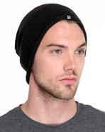 Men Hawkes Knit Oversized Beanie Charcoal