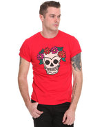 Men Skull S/S Tee Red Xx-Large