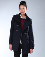 Djp Outlet Women&#39;s Plaid Military Wool Jacket Navy