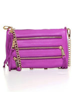Women's Mini 5 Zip Bag Purple
