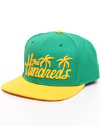 Men Palms Snapback Cap Green