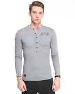 G-Star Men Aero Granddad L/S Shirt Grey X-Large