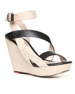 Joe's Jeans Women's Karla Wedge Sandal Beige 9.5