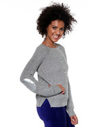 Djp Basics Women's Scoopneck Lurex Sweater W/ Elbo