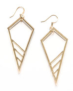 Women's Cone Earrings Gold