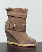 Djp Outlet Women's Haley Wedge Bootie Olive 9.5