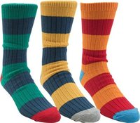 Globe Fat Stripe Boots Delux Sock 3Pk