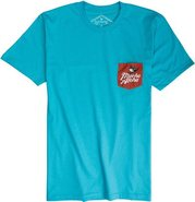 MUCHO ALOHA POCKET TEE Large Turquoise Blue