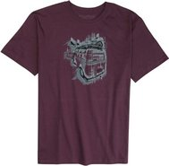 PHUN RIDE SS TEE Small Burgundy Red