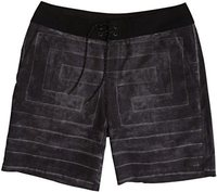 Buttonshaw Maze Boardshort Black