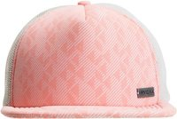 SUNDOWN TRUCKER HAT Coral Pink Red