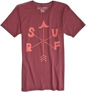 X ANDY DAVIS COMPASS SS TEE Small Burgundy Red