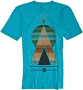 HAPPY CAMPERS SS TEE Small Turquoise Blue