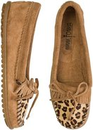 LEOPARD KILTY MOCCASIN Taupe Beige