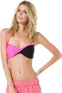 SIMPLY SOLID TWISTED BANDEAU BIKINI TOP Small