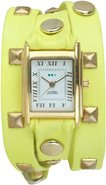 La Mer Yellow Pyramid Wrap Watch