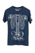 Rebel Yell Skeleton Crew Tee in Royal