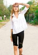 Eyelet Western Shirt in White