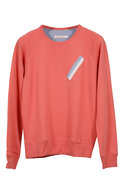 Beach Sweatshirt with Chest Detail in Coral