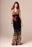 Full Length Cami Dress in Thai Print