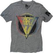 Rebel Yell Icon Vneck Tee in Heather Grey
