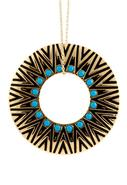 Tribal Circle Pendant in Turquoise