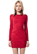 Tara Pleated Dress in Red