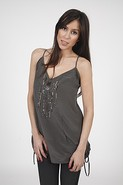 Rain Stud Tunic in Dusty Grey