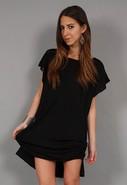 Open Back Dress in Black