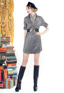 Brady Long Shirt Dress in Slate