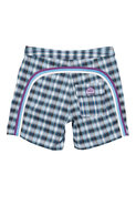 17 Inch Low Rise Boardshort in Cornflower Plaid
