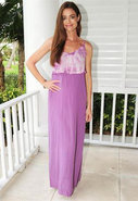 Lili Ruffle Maxi Dress in Lavender