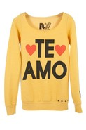 Te Amo Cut-Off Top in Gold