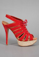 Ashley Espadrille Sandal in Tomato
