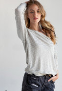 Pomona Sweatshirt in Heather Grey Slub Sweater Kni