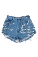 Vintage Frayed Flower Short