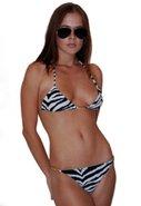 Chain Bikini in Zebra