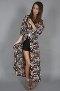 by Nicole Richie Falcon Robe Jacket in Abstract Fl
